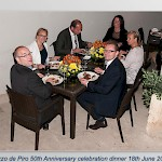 50th anniversary dinner in Mdina